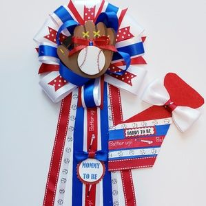 Other - Baseball baby shower corsage